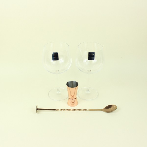 Kit de 4 Peças para Gin Authetic Collection Cobre