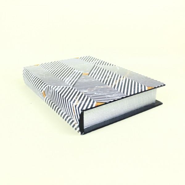 Livro Caixa Preto e Branco Optical Art P