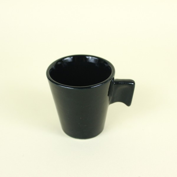 Xícara Cafezinho Cerâmica Black 80ml