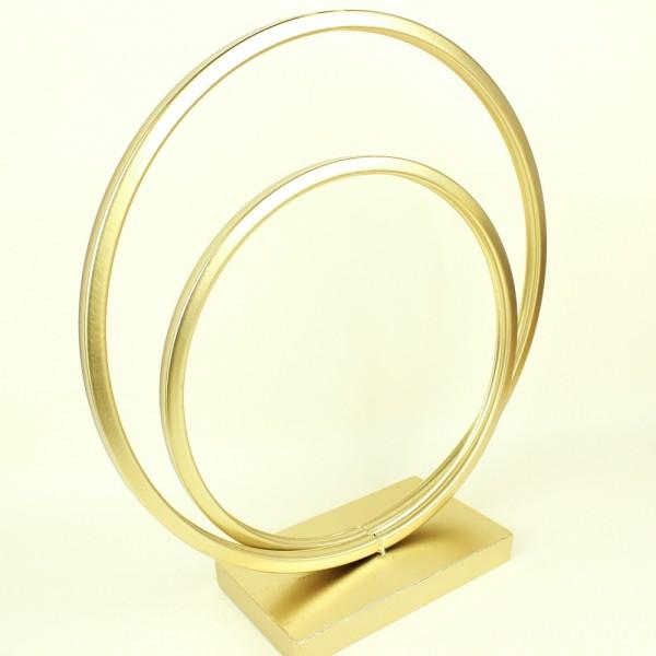 Escultura Circulos em Metal Dourado