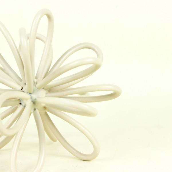 Escultura Flor em Metal Nude P