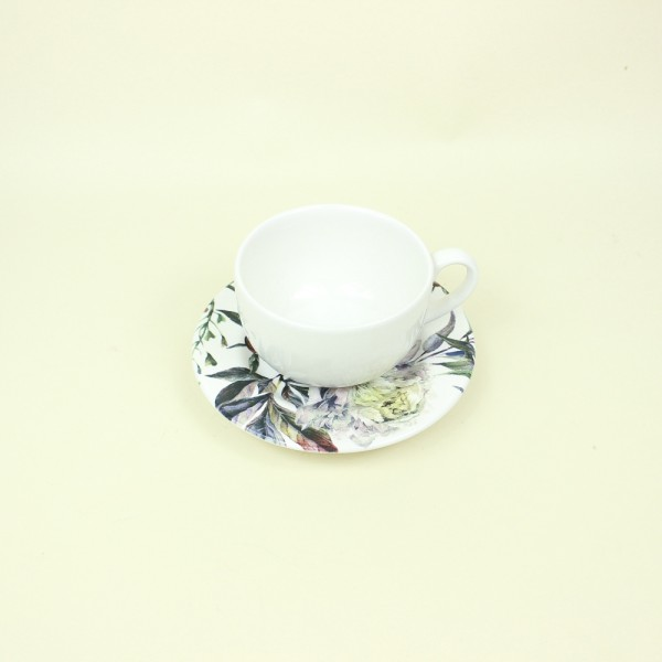 Xícara para Chá de Aquarela Giardino