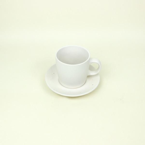 Jogo de 4 Xícaras para Chá de Cerâmica Granilite Marfim 200 ml