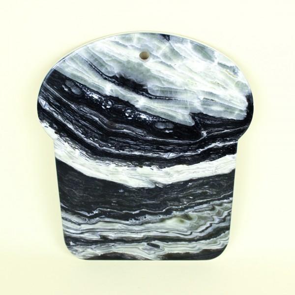 Descanso de Panela Decorativo Cinza em Cerâmica
