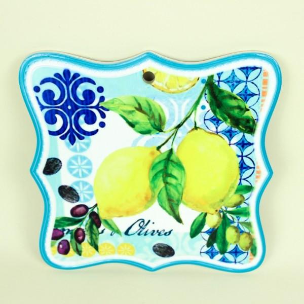 Descanso de Panela Limão em Cerâmica
