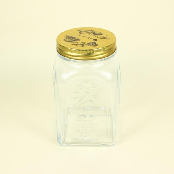 Porta Mantimento Homemade em Vidro com Tampa de Metal
