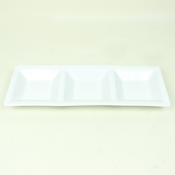 Petisqueira em Porcelana com 3 Divisões