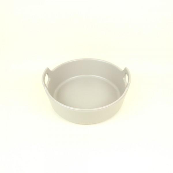 Refratário de Porcelana Redondo Nórdica Cinza M