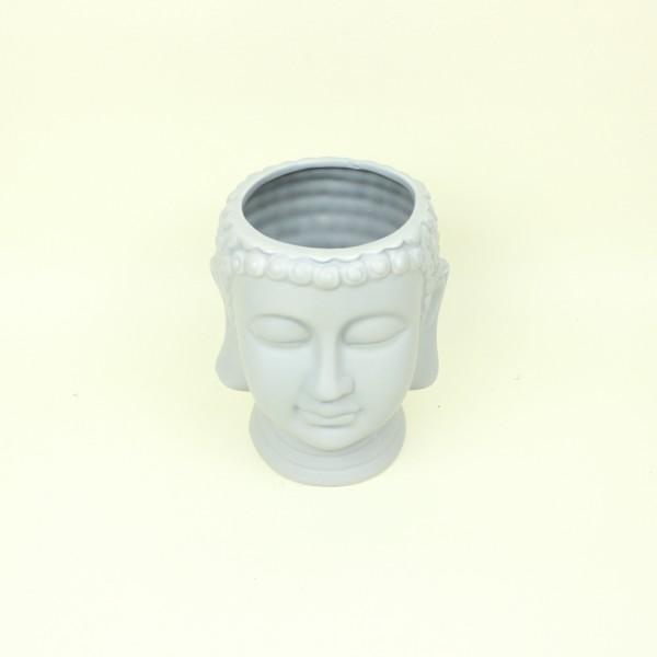 Cachepot Buda Cinza em Cerâmica