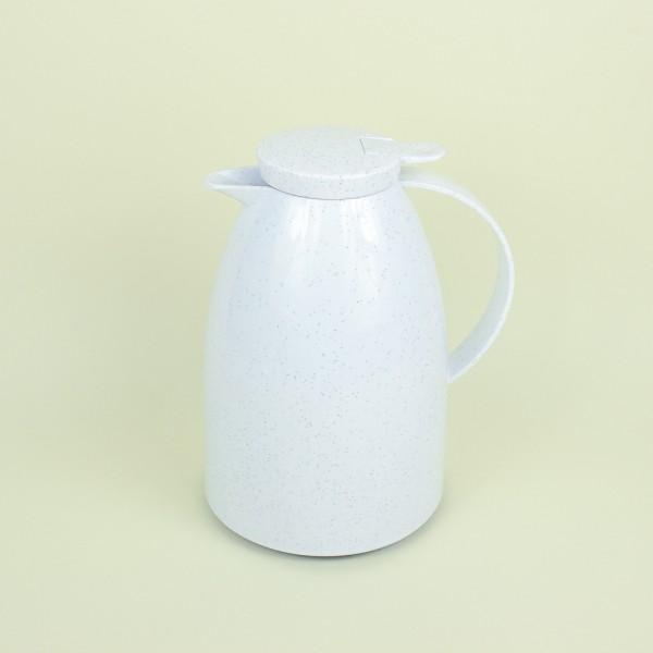 Garrafa Térmica Viena Gatilho Branco em Cerâmica 1L