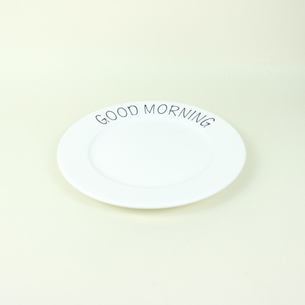 Prato Tea em Cerâmica Good Morning