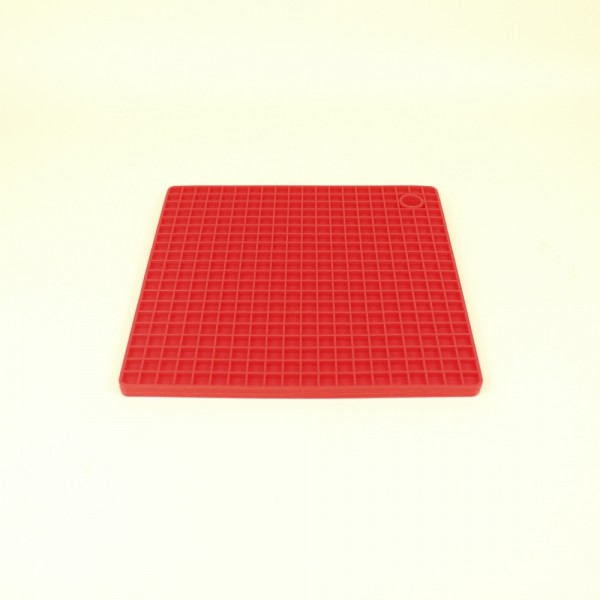 Descanço de Panela Quadrado de Silicone Vermelho