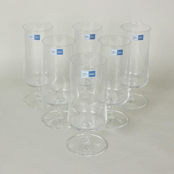 Jogo de 6 Taças para Cerveja Pilsen Basic Cristal com Titânio 405 ml