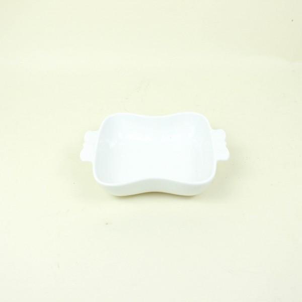 Porta Anéis de Porcelana Butterfly Branco