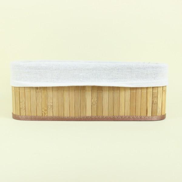 Cesto Orgânico de Bambu Claro Grande M