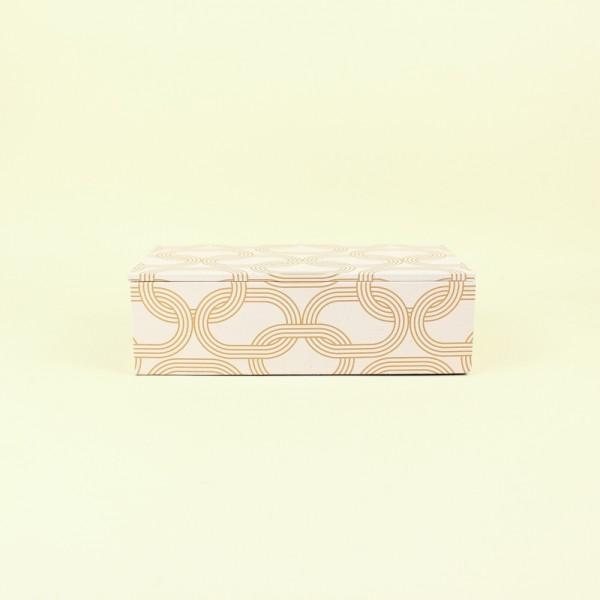 Caixa Decorativa Correntes Rosa P