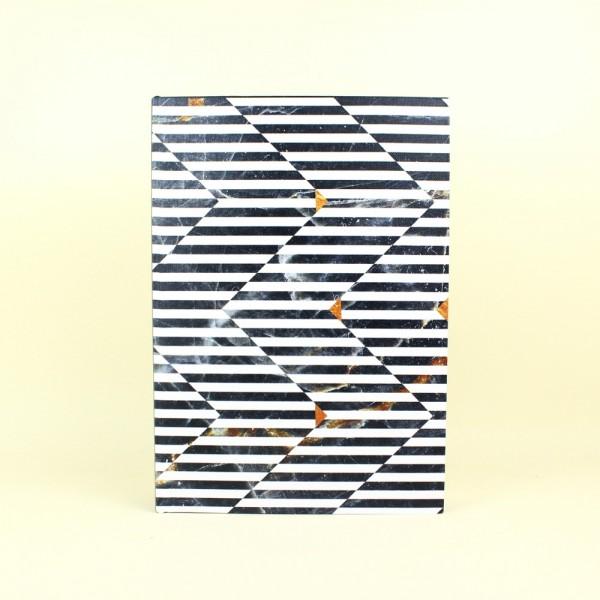 Livro Caixa Preto e Branco Optical Art M