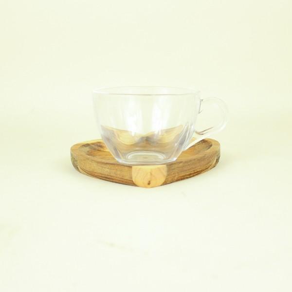 Xícara para Chá com Prato Madeira 190ml