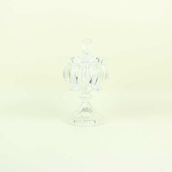 Bomboniere Transparente em Vidro Frizado