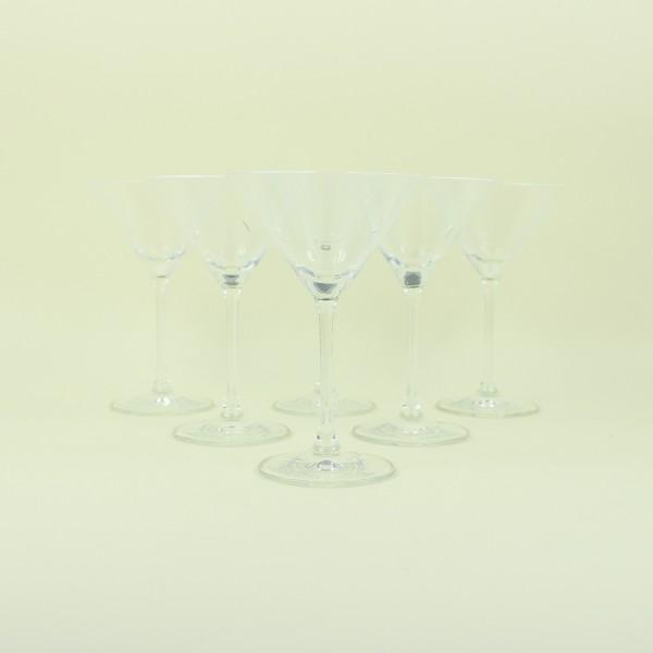 Jogo de 6 Taças de Cristal para Martini 166ml