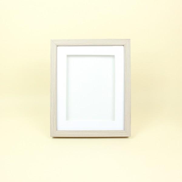 Porta Retrato em Mdf Marrom e Branco 15x20