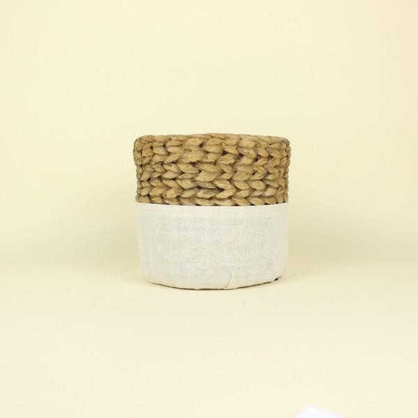 Cachepot Corda e Tecido em Cimento