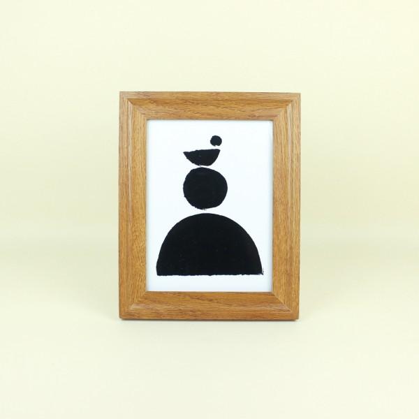 Porta Retrato em Mdf Madeira Escura 15x20