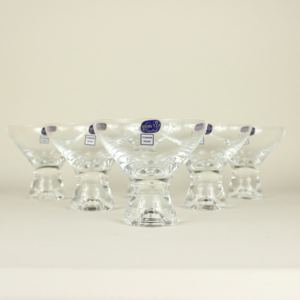 Jogo de 6 Taças para Sobremesa Vega Cristal Titânio Bohemia