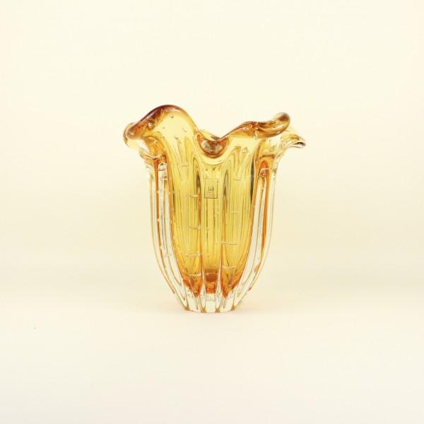 Vaso em Cristal Murano Âmbar