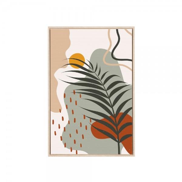 Quadro Abstrato Cores Palmeira