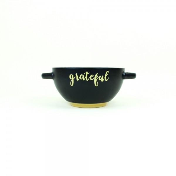 Consumê em Cerâmica Grateful Preto e Amarelo