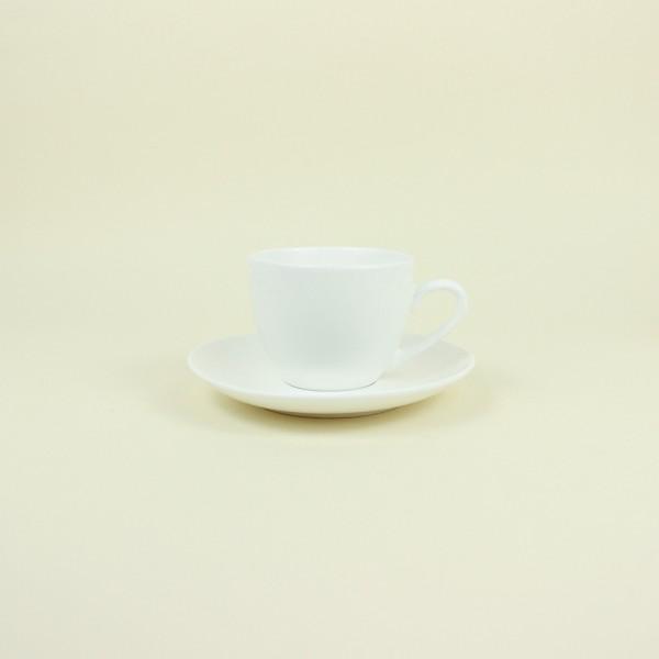 Conjunto de 6 Xícaras de Café com Pires de Porcelana Clean