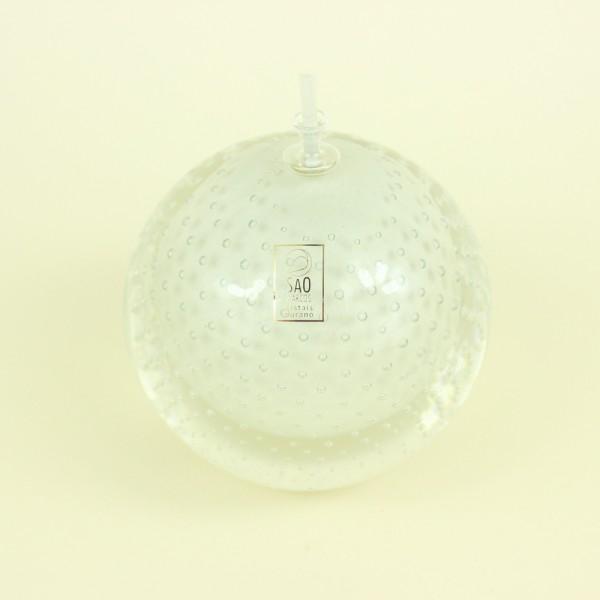 Lamparina Mini Pérola em Cristal Murano
