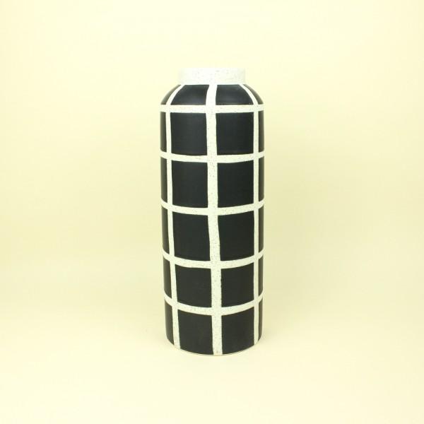 Vaso Cerâmica Geométricos Preto e Branco M