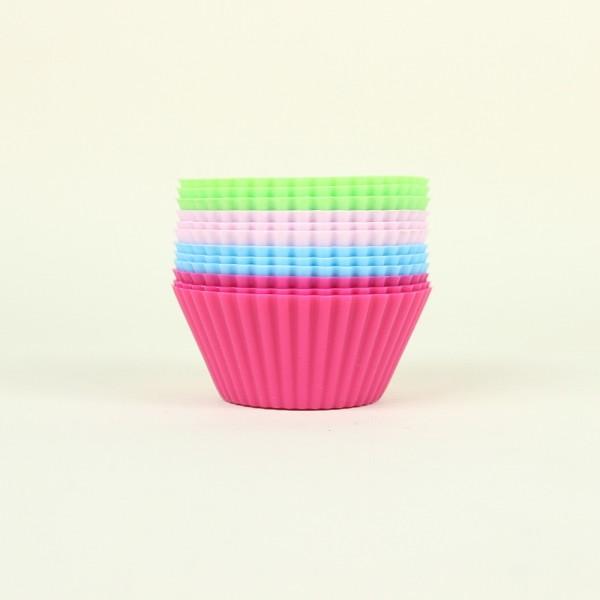 Forma para Muffin de Silicone Colors P