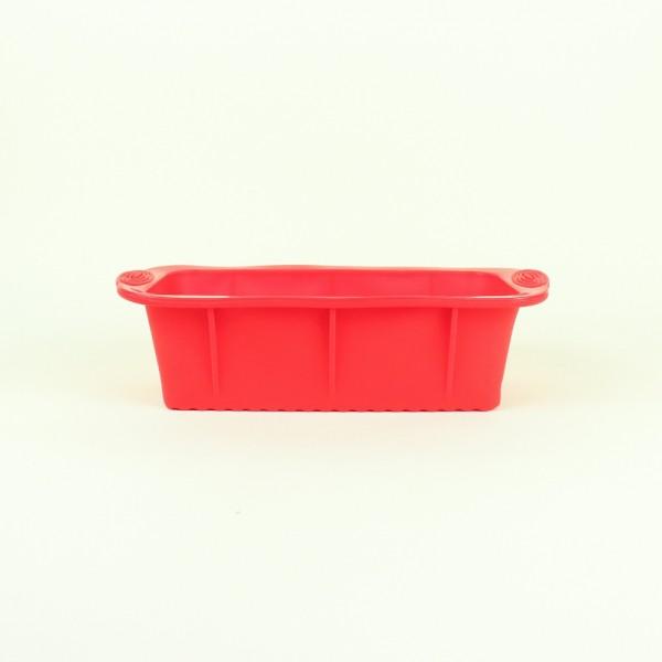 Forma para Pão de Silicone Retangular Vermelha