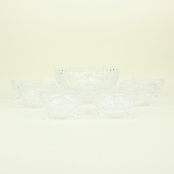 Jogo de 7 Peças de Cristal para Sobremesa Glory