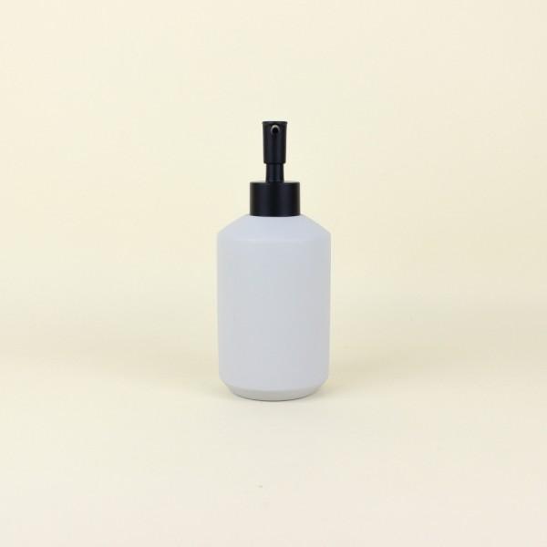 Porta Sabonete Líquido em Cimento Branco