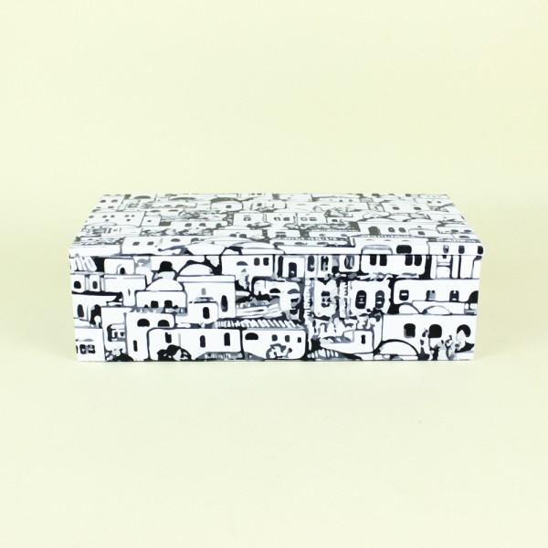 Caixa Decorativa Cidade Preto e Branco P