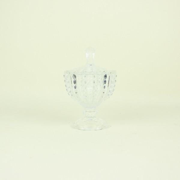 Potiche de Cristal com Pé Bolhas