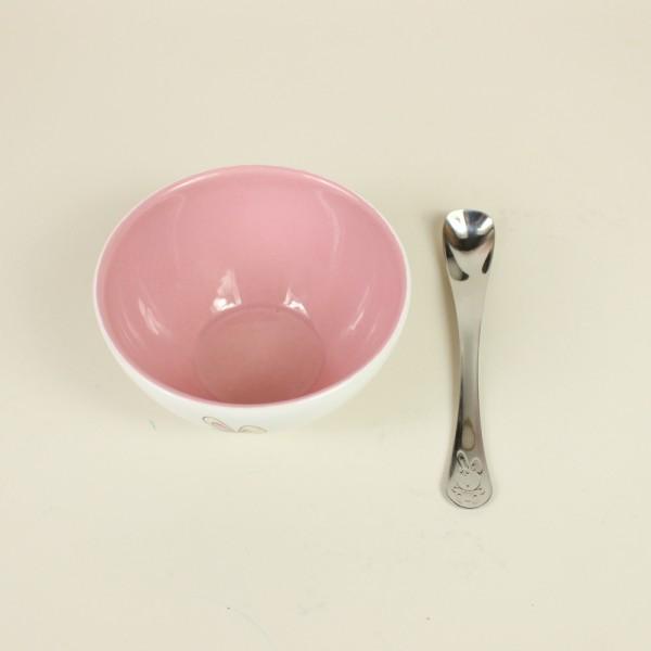 Jogo para Criança Le Petit Rosa 2 Peças Cerâmica/Inox