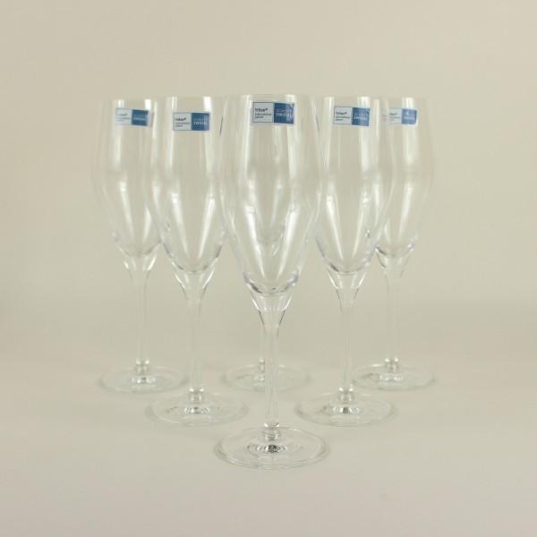 Jogo de 6 Taças para Champagne Prosseco Audience Cristal com Titânio