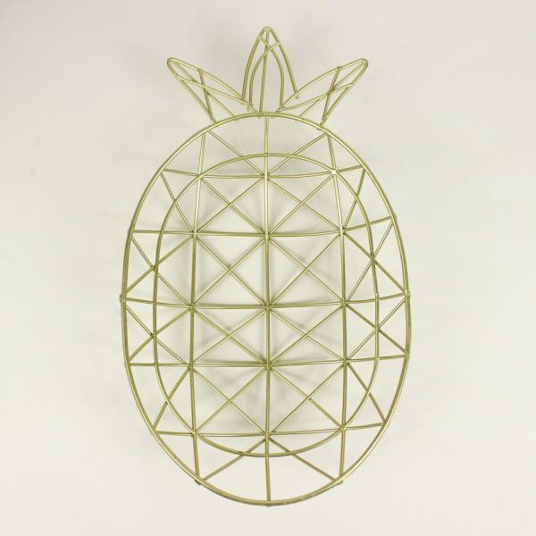 Fruteira Formato Abacaxi Dourado