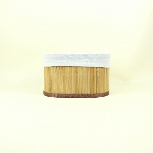 Cesto de Bambu Cru com Tecido P