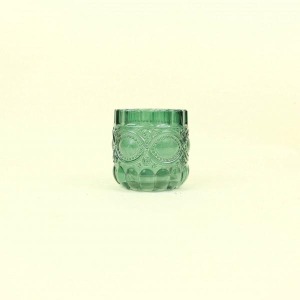 Castiçal em Vidro Verde