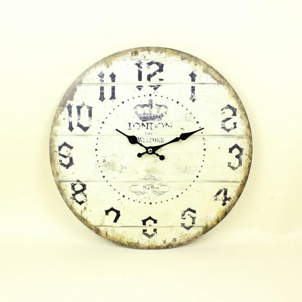 Relógio de Parede Madeira London Bege