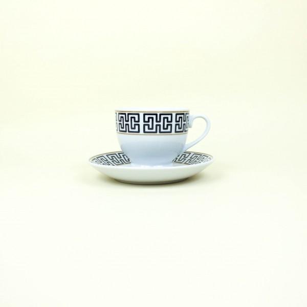 Conjunto de 6 Xícaras para Chá com Pires de Porcelana Egypt 180ml