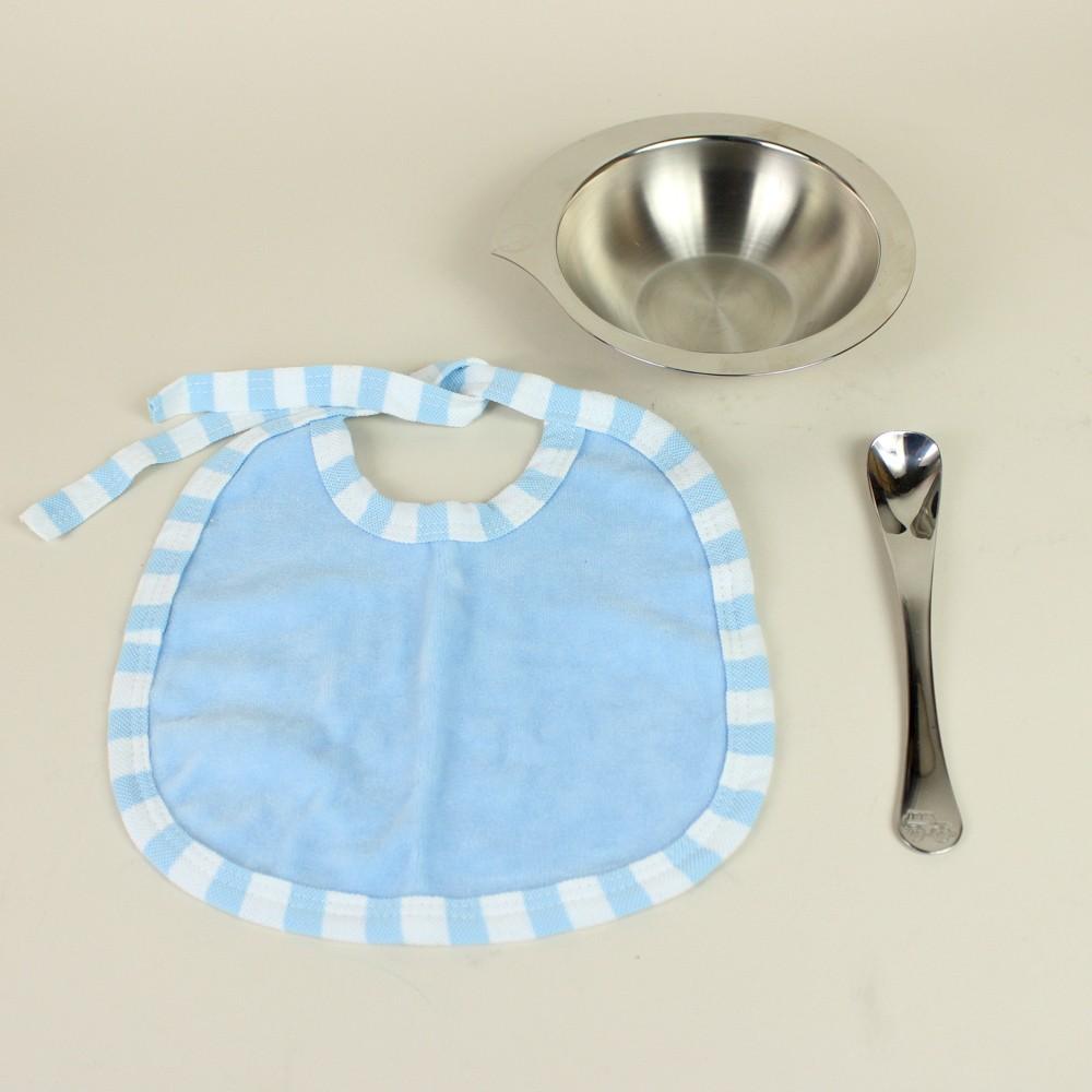 Jogo Inox para Criança Le Petit Azul 3 Peças